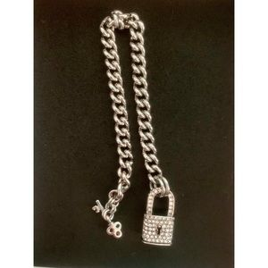 Juicy Couture lock and key bracelet